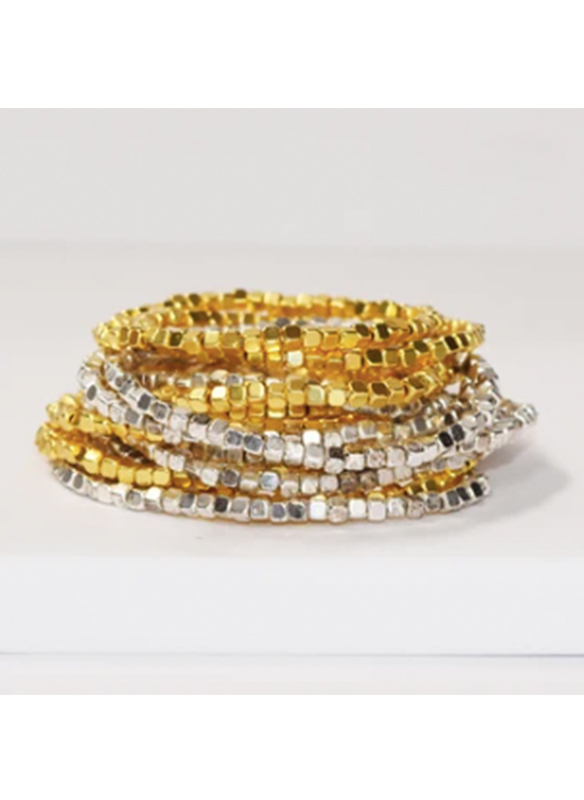 Karina Sultan Silver and Gold Multi Strand Bracelet