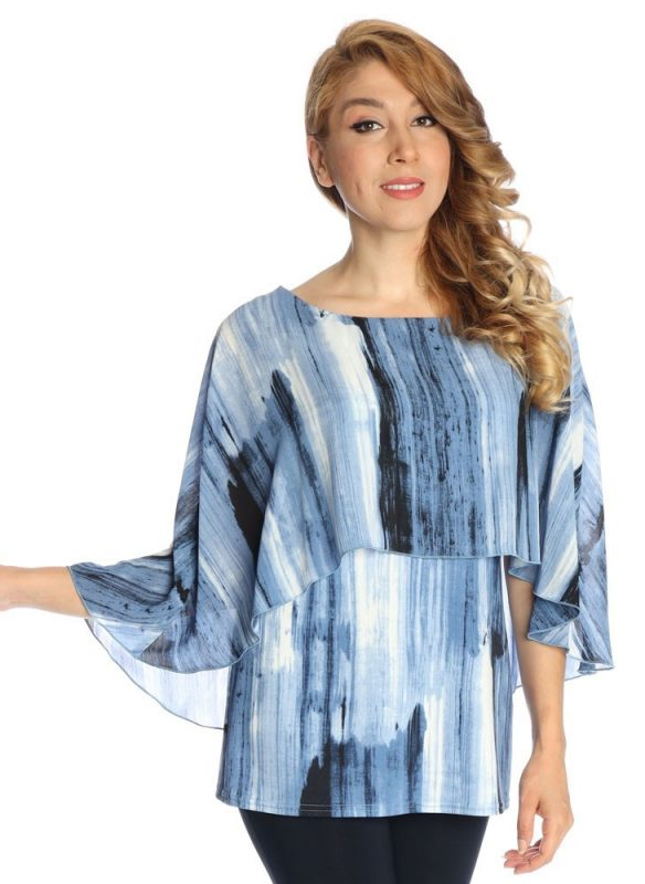 Michael Tyler Abstract Print Layered Top