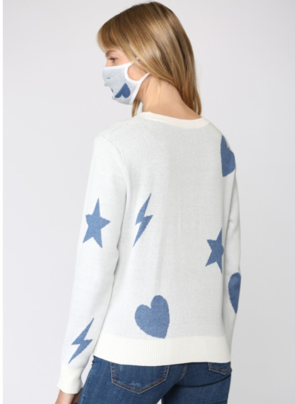 Fate Hearts And Star Sweater With Matching Mask
