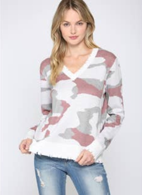 Fate Pink Camo Knitted Pullover