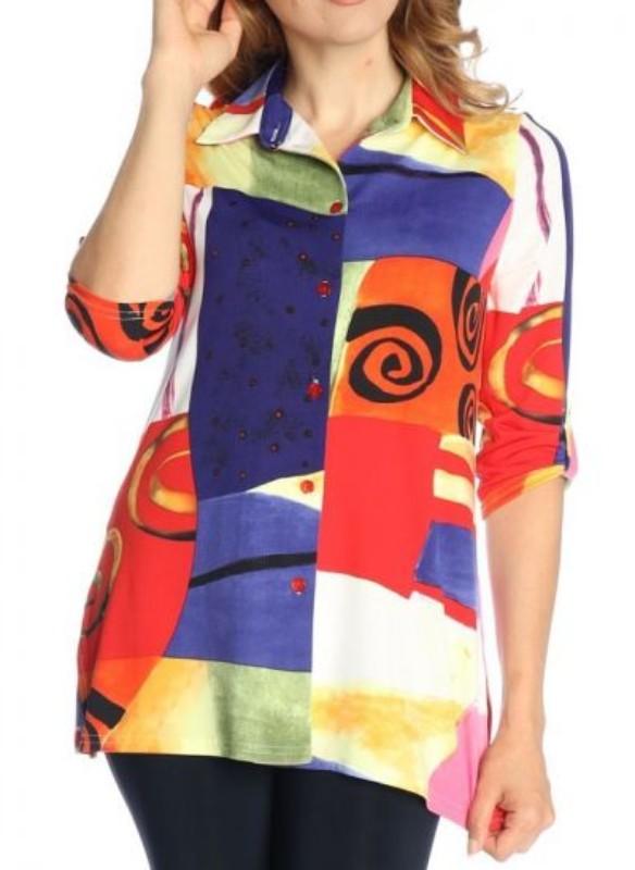 Michael Tyler Abstract Print Shirt