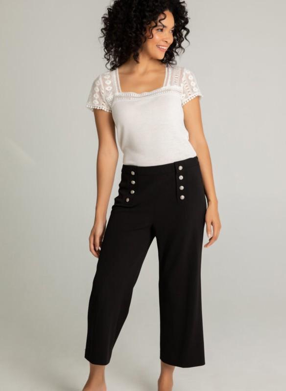 Spanner Button Front Crop Pant