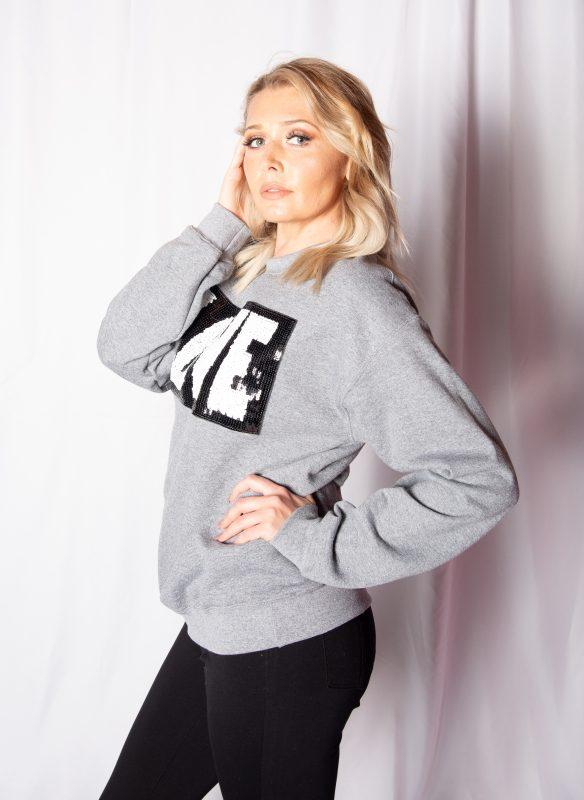 SoJara Sequin Love Sweatshirt