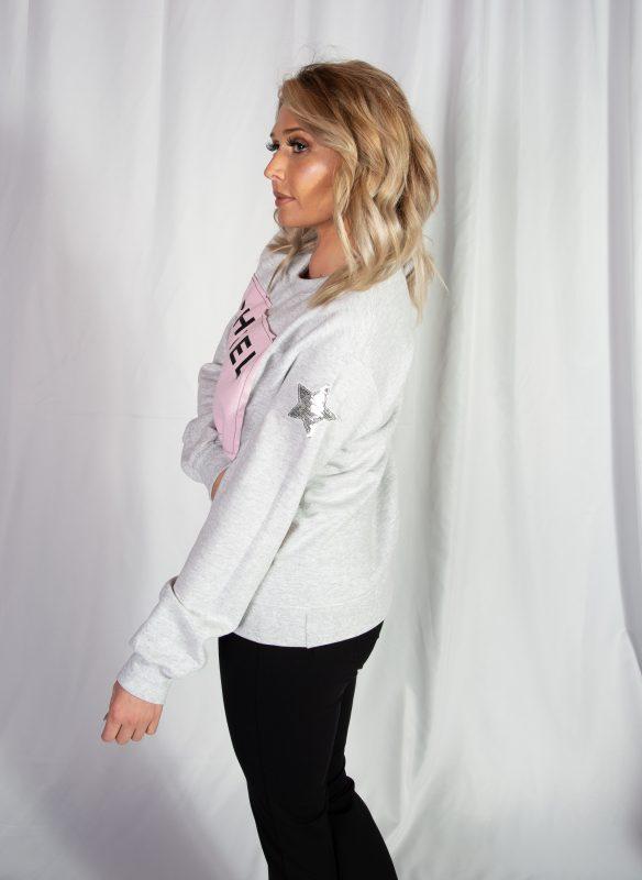 Designer-ish Chanel Inspired Sweatshirt