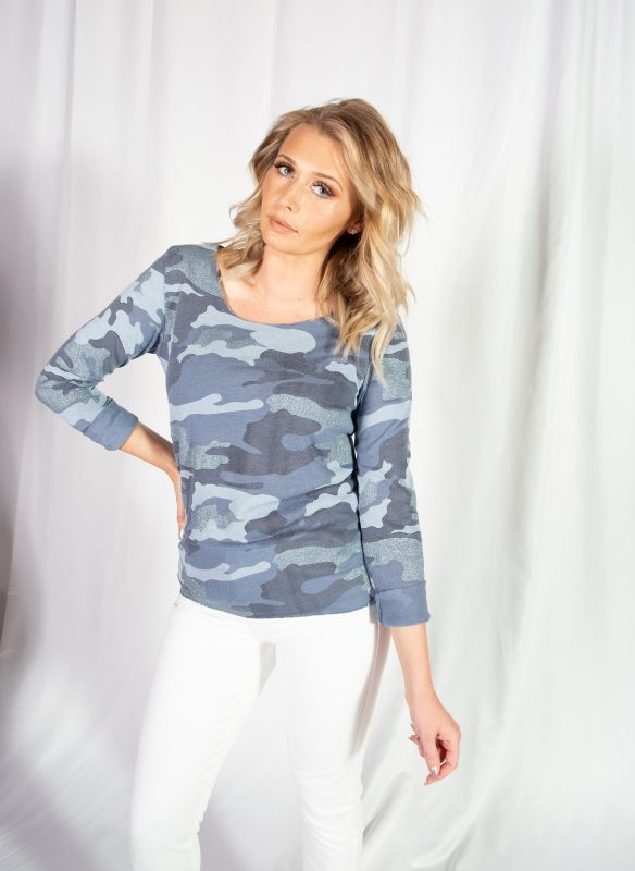 Brand Bazar Blue Camo Top
