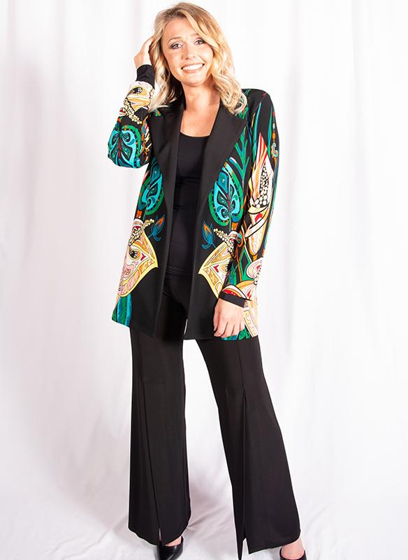 Eva Varro Bright Print Cardigan Jacket