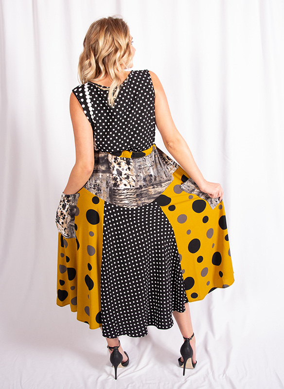 Moonlight Sleeveless Dot Dress