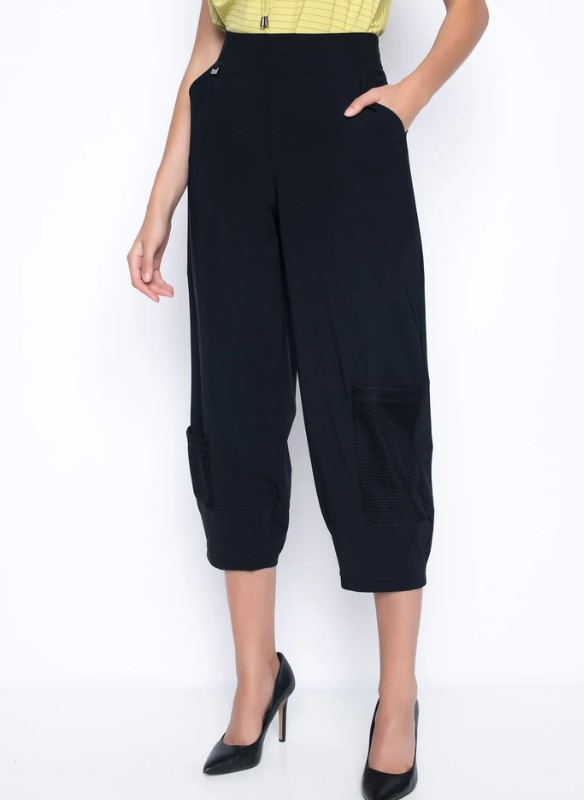 Picadilly Open-Knit  trim Balloon Pant