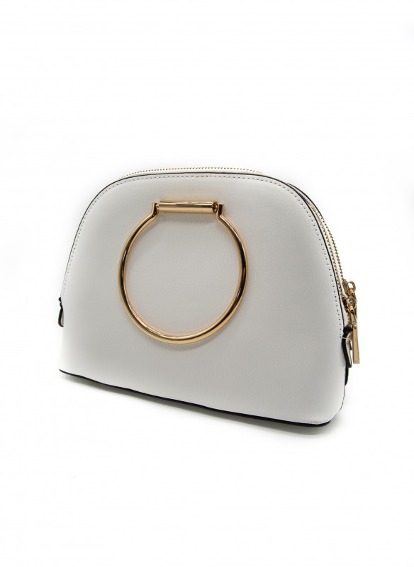 Sondra Roberts Gold Circle Handle Bag
