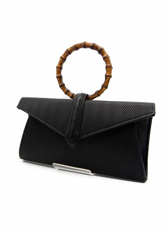 Sondra Roberts Wooden Handle Bag