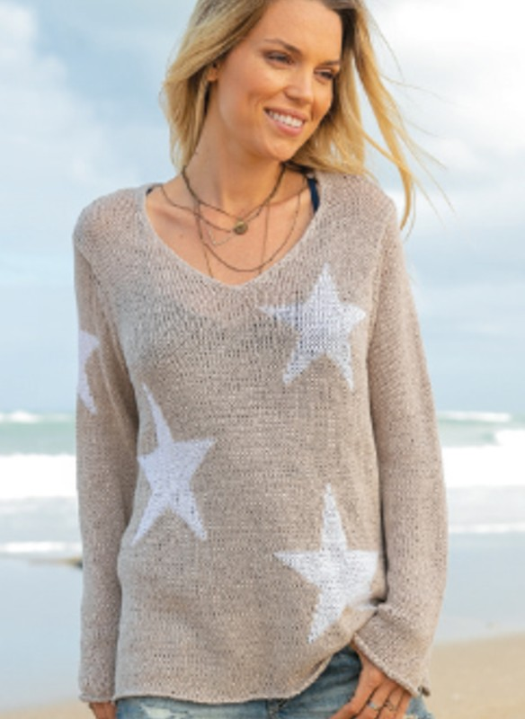 Wooden Ships Hailey Star Sweater