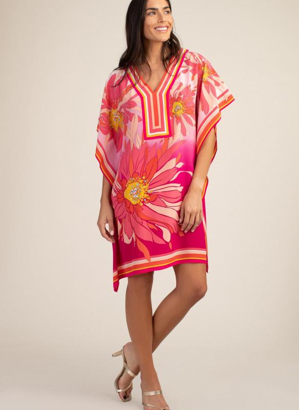 Trina Turk The Odora Dress Orange Print
