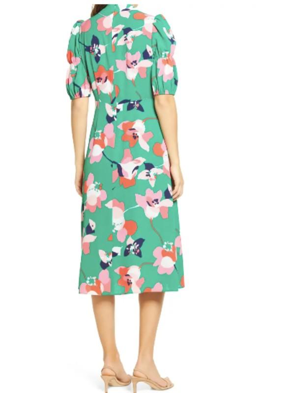 Vince Camuto Floral Pebble Crepe Dress