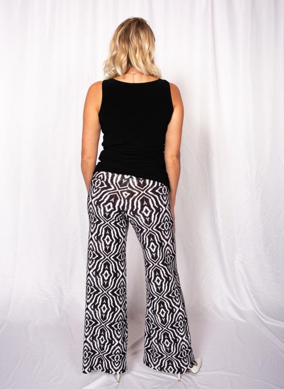 Viereck Jersey Wide Leg Print Pant