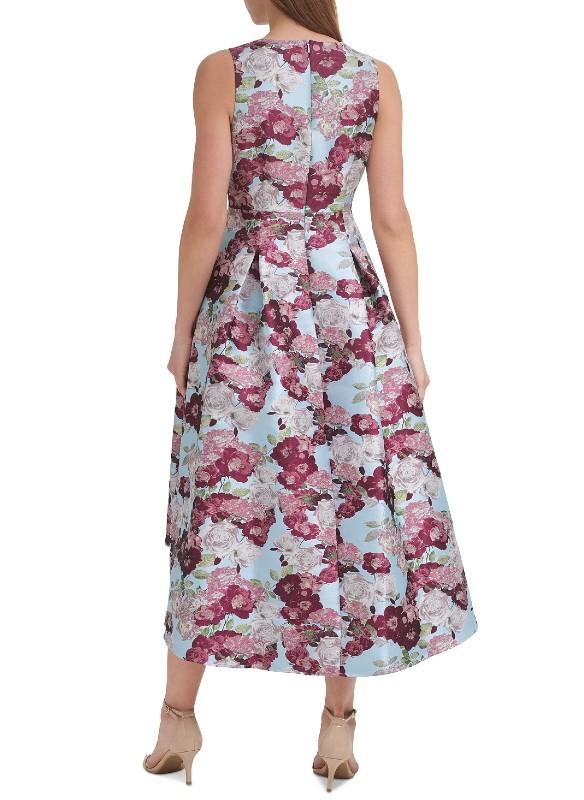 Eliza J Floral Print High-Lo Dress