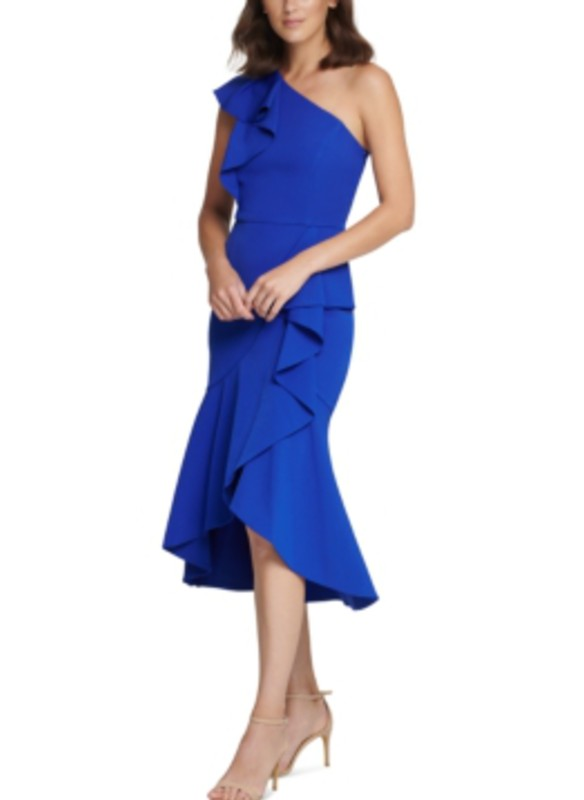 Vince Camuto One-Shoulder Ruffle High-Low Cocktail Dress