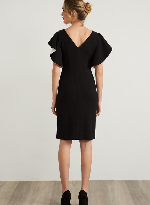 Joseph Ribkoff Flutter Sleeve Dress