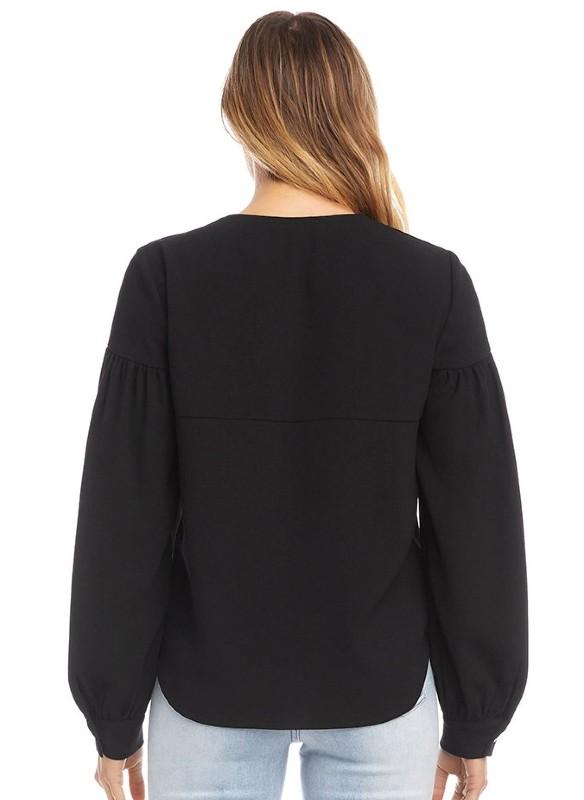 Karen Kane Puff Sleeve Top