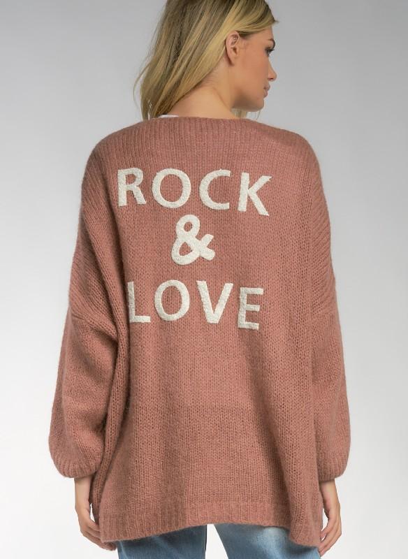Elan Rock & Love Sweater Cardigan