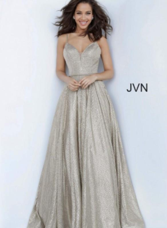 JVN V-Neck Glitter Dress