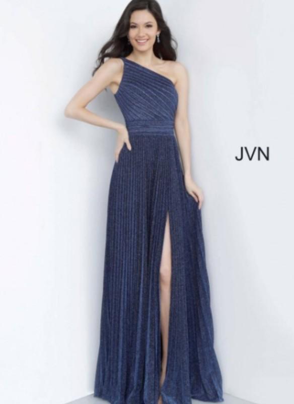 JVN One Shoulder Pleated Dress