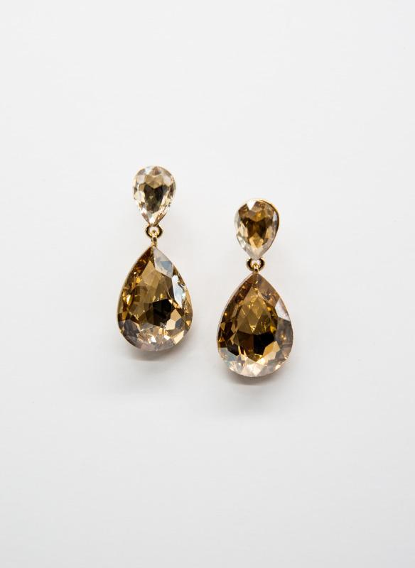 GS Topaz Teardrop Crystal Earrings
