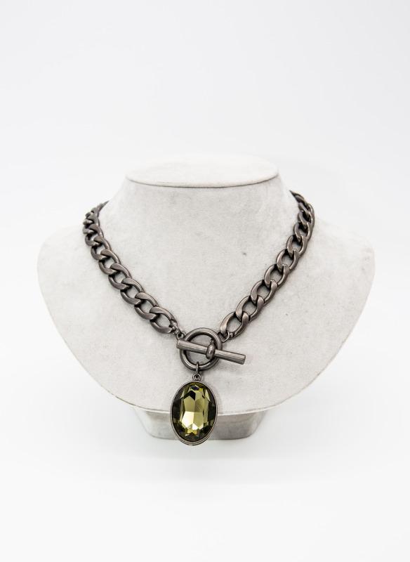 Escape From Paris Crystal Pendant Necklace