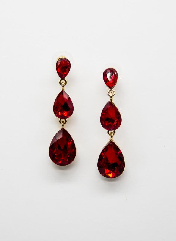 GS Ruby Teardrop Earrings