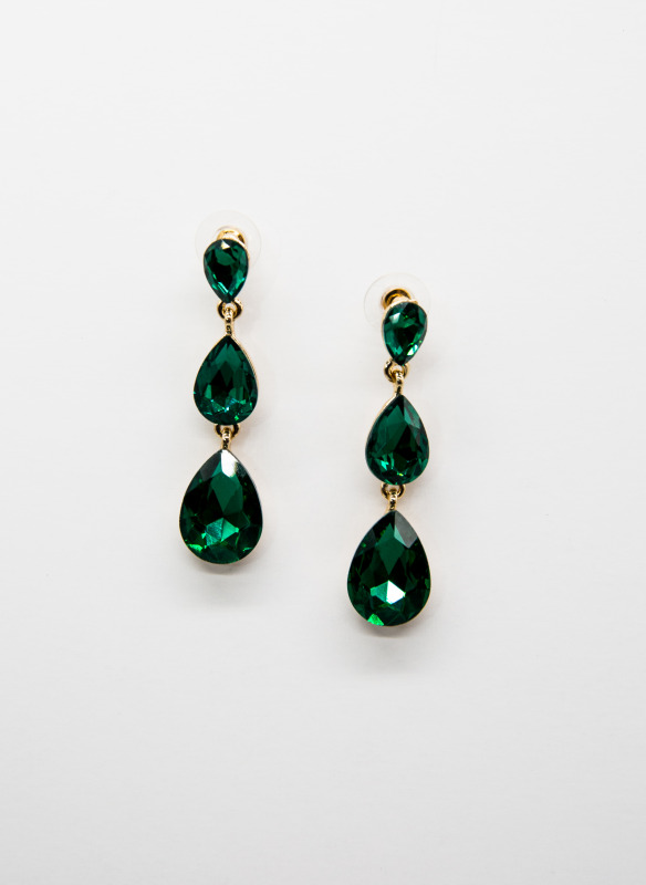 GS Emerald Teardrop Earrings