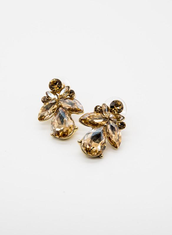 GS Crystal Teardrop Earrings