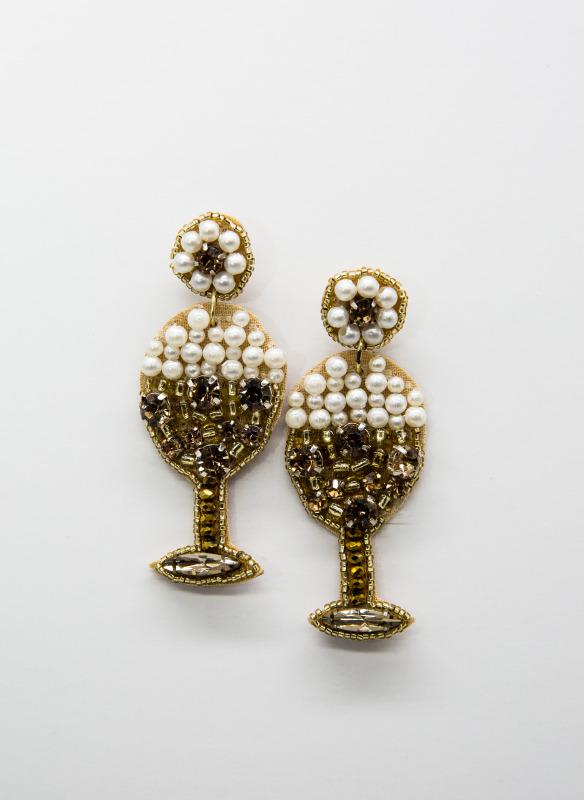 GS Wine Glass Earrings