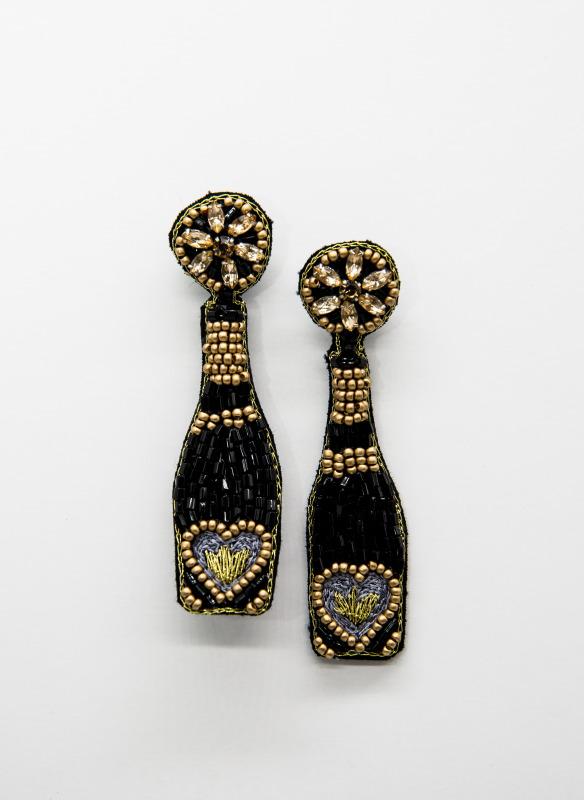 GS Champagne Bottle Earrings