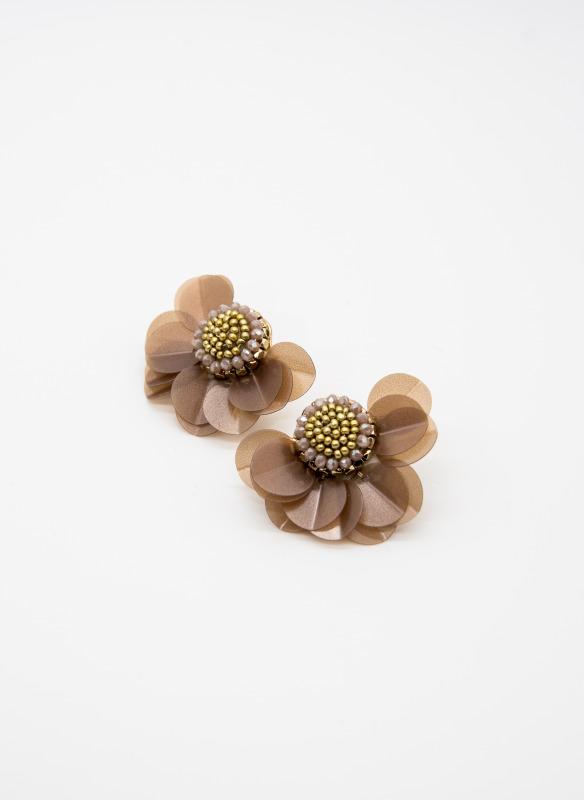 GS Brown Flower Earrings