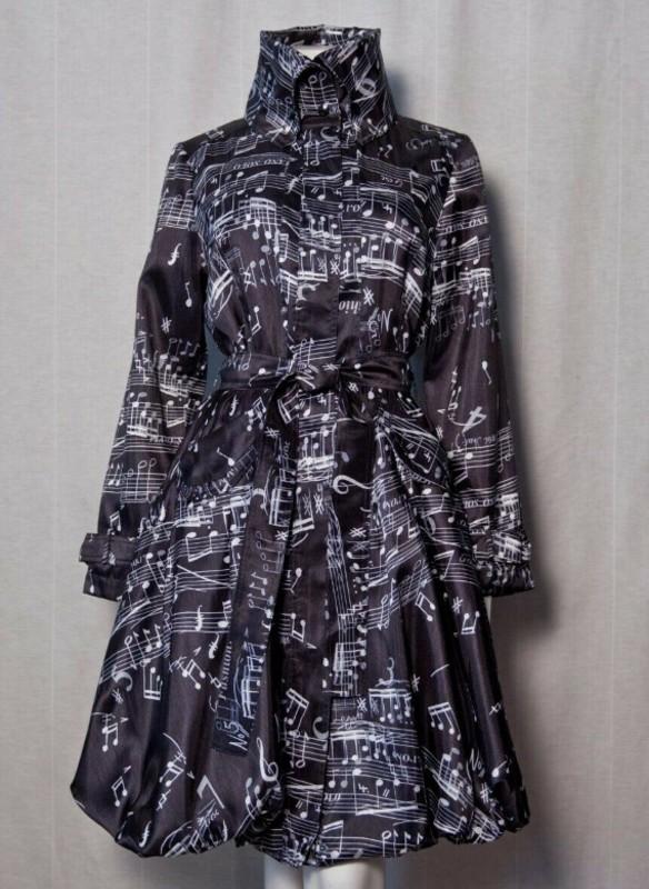 Samuel Dong Musical Notes Bubble Coat Dress