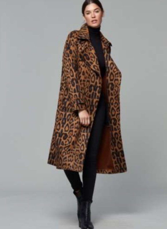 Dolce Cabo Cheetah Trench Coat