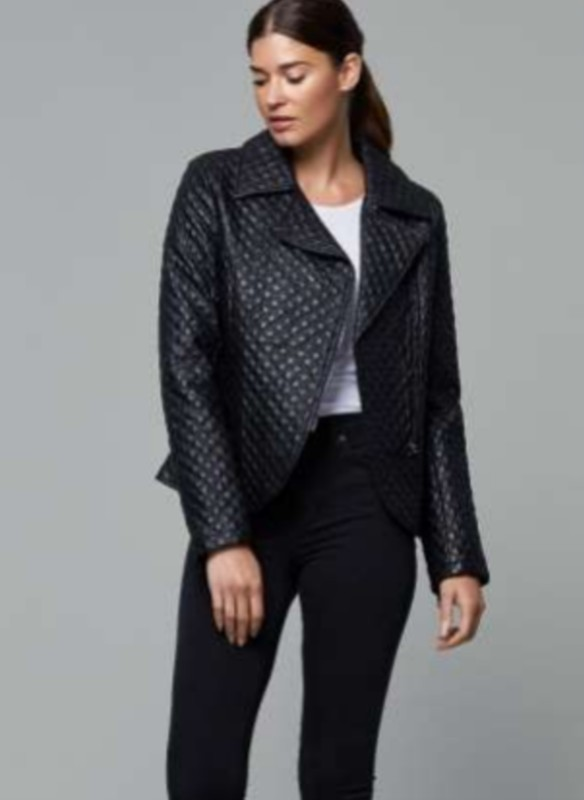 Dolce Cabo Vegan Leather Quilted Moto Jacket