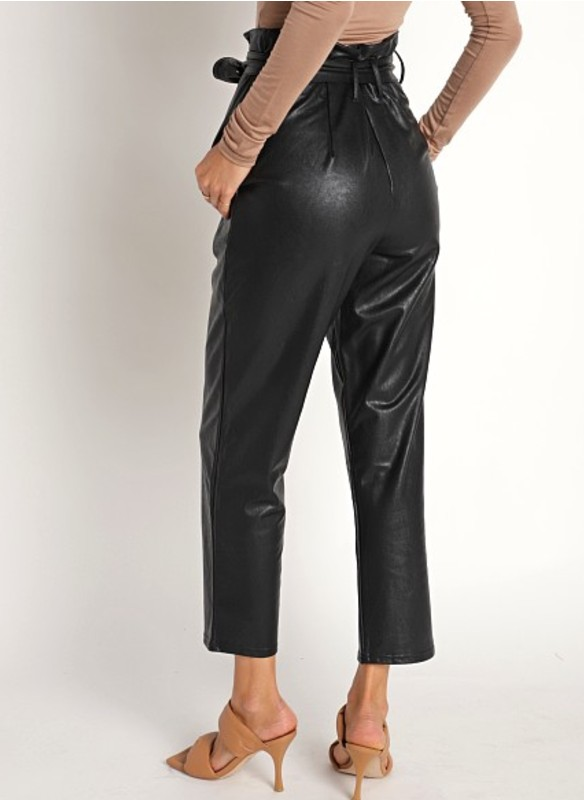 Dolce Cabo Vegan Leather Cropped Paper Bag Pant