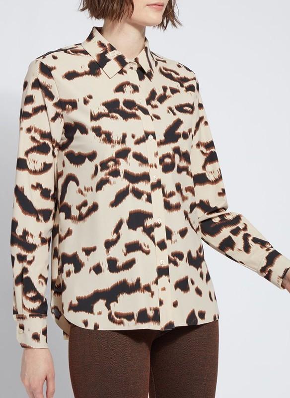 Lyssé Button Down Animal Print Shirt