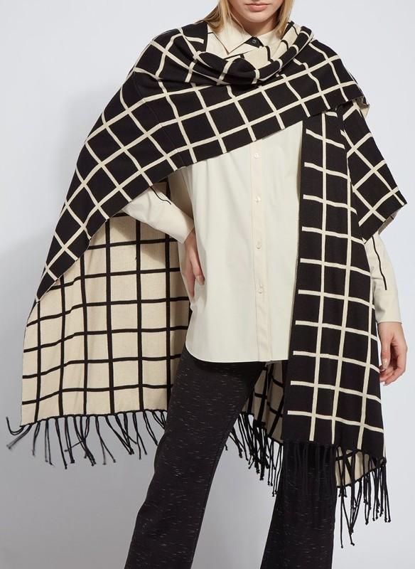 Lyssé Patterned Treasured Sweater Wrap